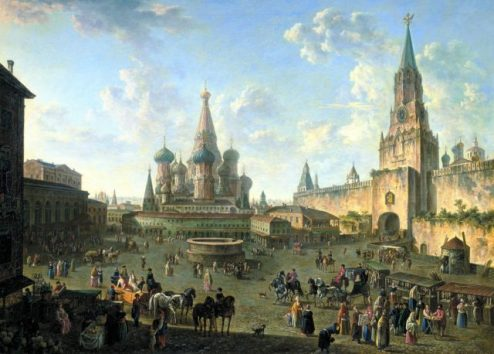 Red Square in Moscow - 1801