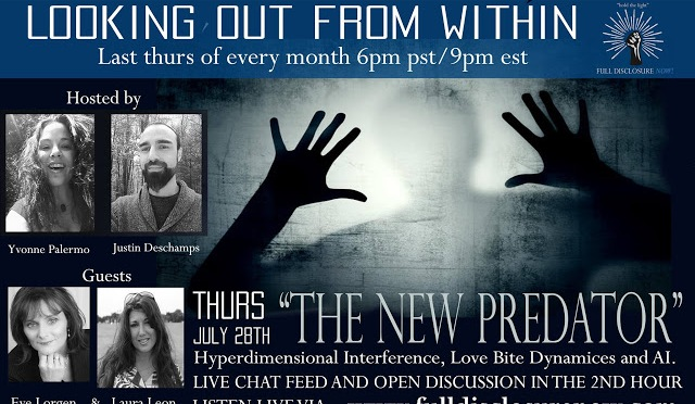 "Looking out from Within – Eve Lorgan and ""The New Predator"" and related to Hyperdimensional Interference, Love Bite dynamics and AI 