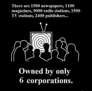 "And these six major mass media corporations are KM controlled and function as an illegal News Monopoly that specializes in KM big lies, false-narratives and propaganda used to mind-kontrol, psyop, deceive and manipulate the masses into wars of aggression and profit for the KM and its 147 ""crony"" international corporations. behind these wars are sophisticated human disposable operations with secondary purposes."
