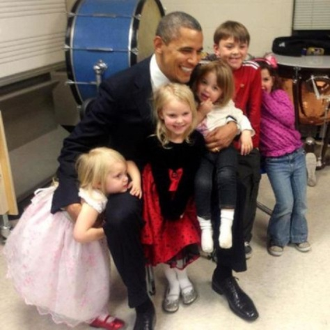 Obama with Sandy Hook kids
