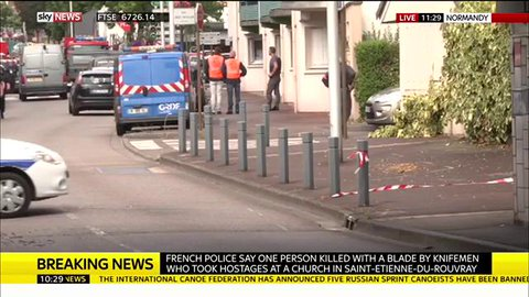 2 Hostage Takers Killed After Slitting Priest's Throat In Assault On French Church | Zero Hedge