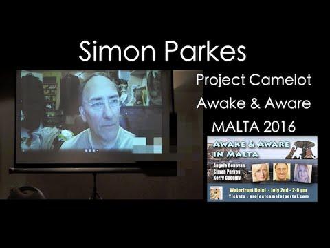 SIMON PARKES VIA SKYPE AT AWAKE & AWARE MALTA | PROJECT CAMELOT PORTAL
