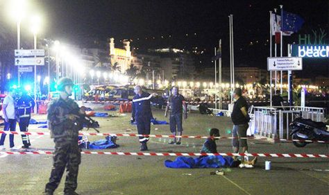 Bodies lay across the promenade in Nice