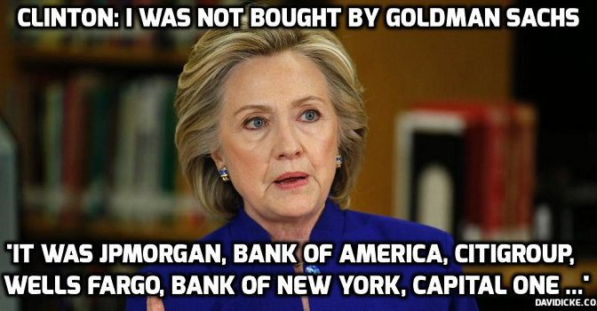 Hillary: Keep the people IGNORANT and don't let them know about my relationship with Wall Street – DNC Leaks keeps giving | David Icke