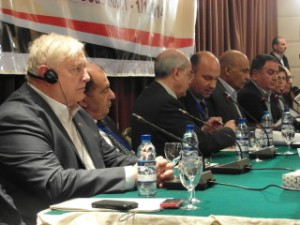 Gordon Duff representing the US delegation final report at the Damascus counter terrorism conference... Dec 02. 2014