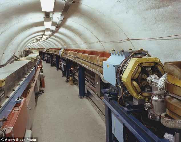 CERN hosts machinery carrying out some of the world's most elaborate particle research. Pictured is the particle accelerator tunnel