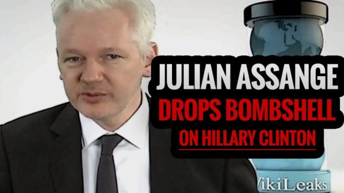 Julian Assange Drops Bombshell Involving Murder on Hillary Clinton (Video) | Politics