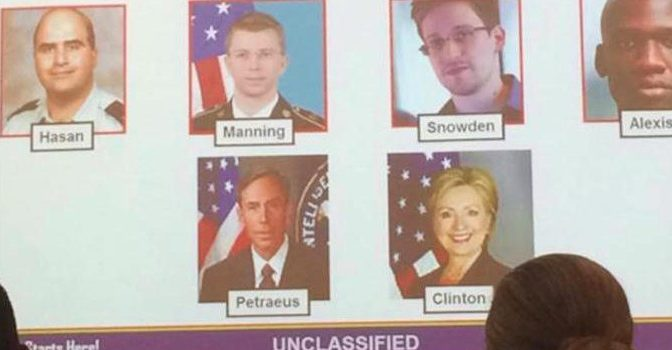"""Army Officially Declare Hillary Clinton An """"Insider Threat""""   Your News Wire"""