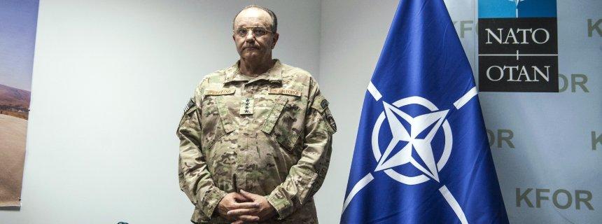 Former NATO Supreme Allied Comander Europe Philip Breedlove at a press conference in 2015
