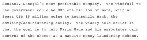 Rothschild bank corrupt