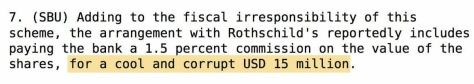 Rothschild Senegal corruption