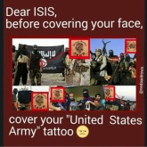 ISIS members with US Army tatoos