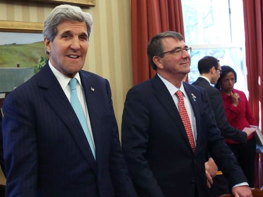 John Kerry and Ash Carter.