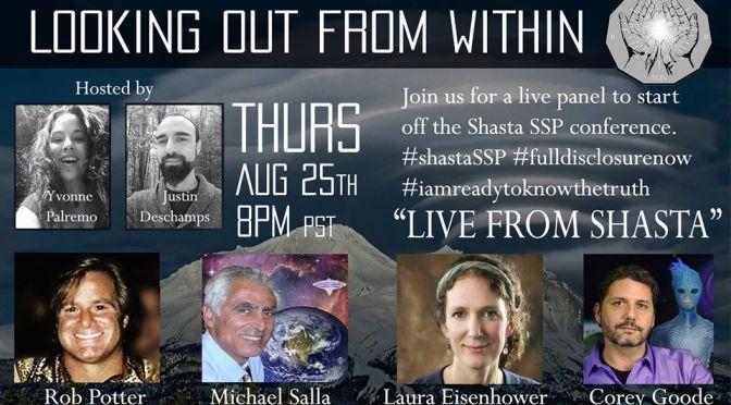 "GOOD AUDIO VERSION ""Live From Shasta"" [8-25-16] w/Corey Goode [Michael Salla, Laura Eisenhower, Robert Potter] | Kauilapele's Blog"