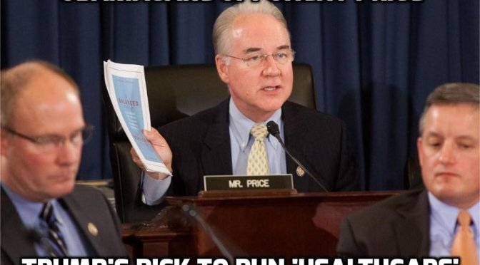 Tom Price, Obamacare Critic, is to Be Trump's Choice for Health Secretary — David Icke latest headlines