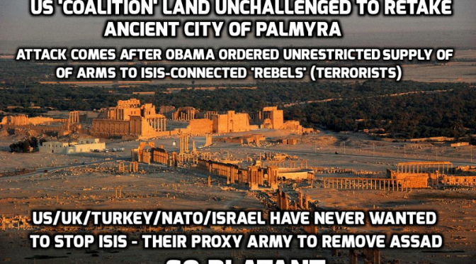 Thousands of ISIS terrorists given free passage across US 'coalition' land to retake Syrian city of Palmyra — David Icke latest headlines
