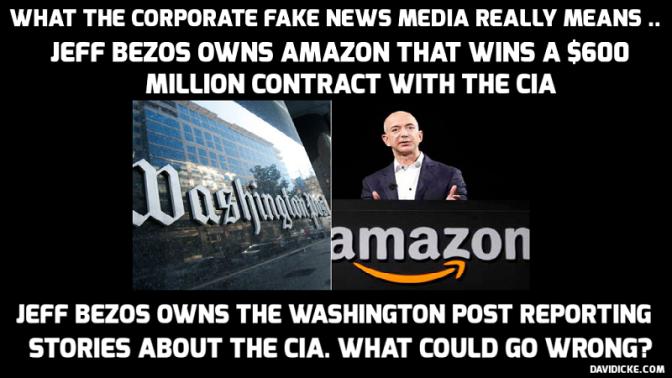 CIA Cloud over Jeff Bezos's Washington Post — David Icke latest headlines