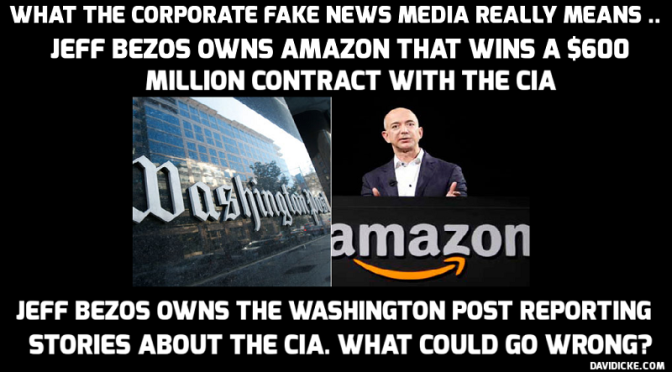 CIA Cloud over Jeff Bezos's Washington Post — David Icke latest headlines