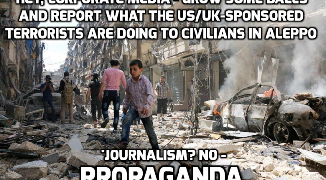 Russian 'shelling and execution' videos in Aleppo faked by militants – MoD — David Icke latest headlines