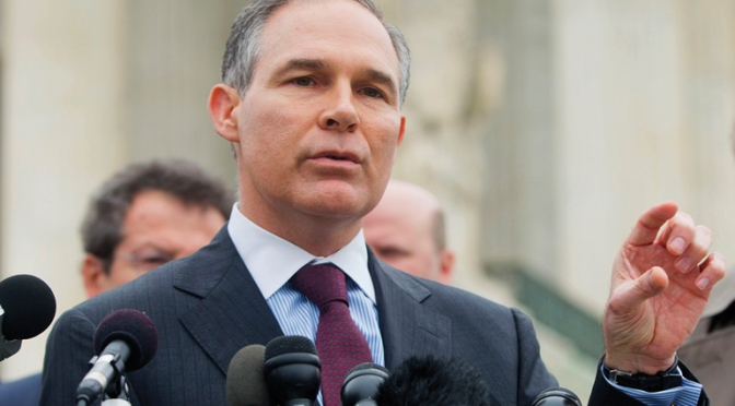 Trump EPA Pick: Scott Pruitt as EPA Head Signals Agency Will Ignore Climate Change — naked capitalism