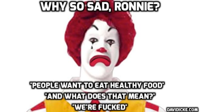 Junk food ads targeting children banned in non-broadcast media — David Icke latest headlines