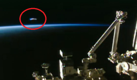 UFO At Space Station On Live NASA Cam During Spacewalk Iss-ufo
