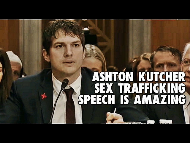 Ashton Kutcher Near TEARS in EMOTIONAL Opening Testimony at Hearing on Human Trafficking – Prepare for Change
