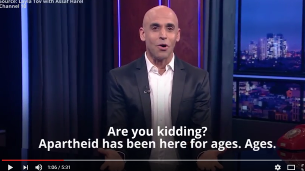 Israeli TV Host Implores Israelis: Wake Up and Smell the Apartheid – Prepare for Change