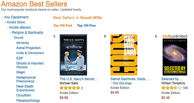 Secret Space Program Books Top Amazon Best Seller List for UFOs » Exopolitics