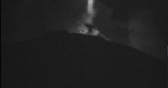 Mysterious Beam Over Mt. Etna and UFOs Over Mexican Volcano