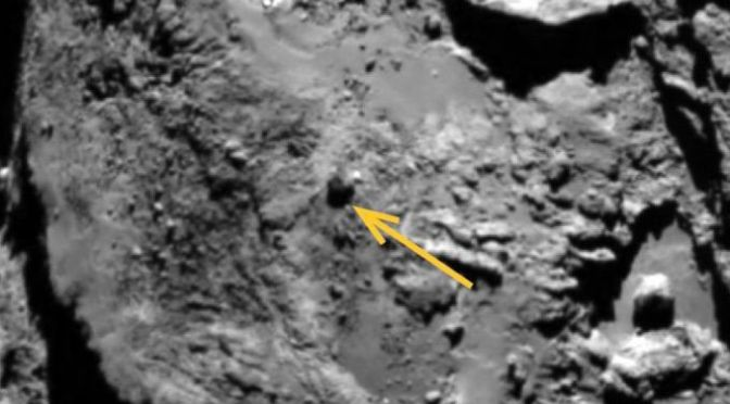 Rolling Boulders on a Comet