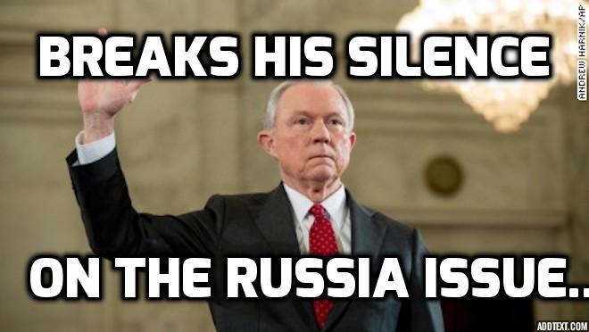 Attorney General Jeff Sessions Breaks Silence on Russian Issue (Video) | Politics