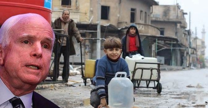 Millions In Syria Without Water After McCain Orders 'Shut Down' Of Supply – Your News Wire