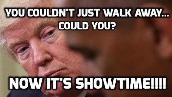 It's Showtime – Trump vs. Obama (Video)