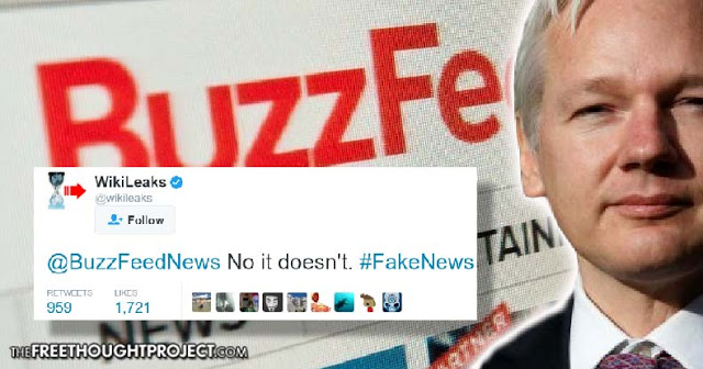 Wikileaks Dismantles False BuzzFeed Article in One Tweet | Stillness in the Storm