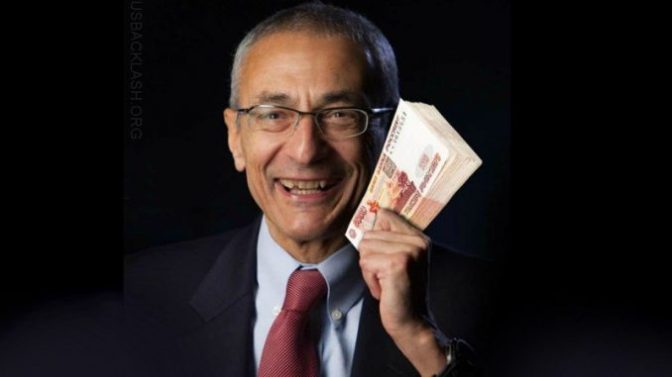 Investigator Says John Podesta Was Paid One Billion Rubles By Russia