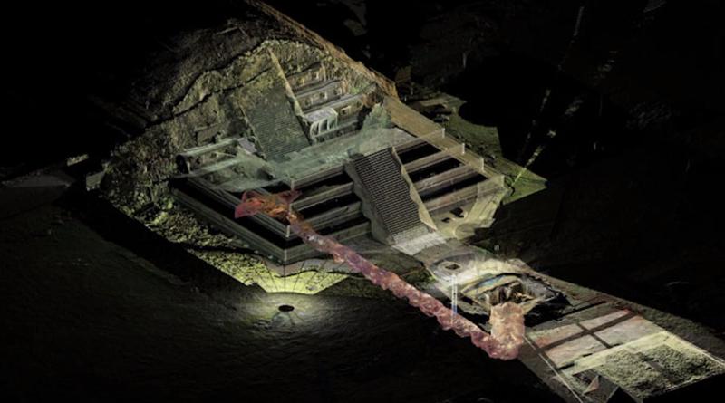 4 Artist S Rendering Of Pyramid Interior Tikal